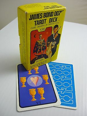 James Bond 007 - 1973 Tarot Of The Witches Deck Original Yellow Box Blue Backs