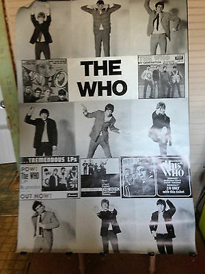 The Who poster HUUGE 40 x 60 somewhere between A-0 and subway poster RARE