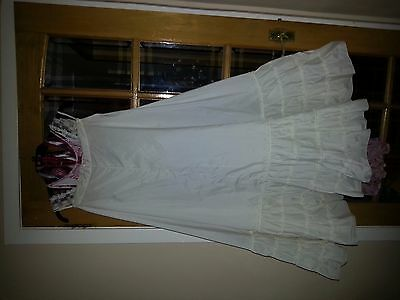 vintage ladies full length underskirt with extended bottom for puff out effect
