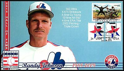 MLB Hall of Fame 2015... Randy Johnson Montreal Expos... Induction Cover #54