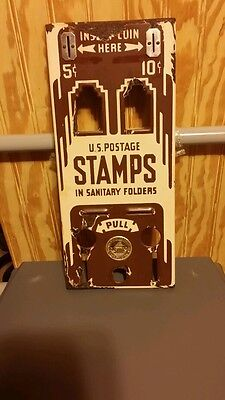 Collectible,metal postage stamp machine cover