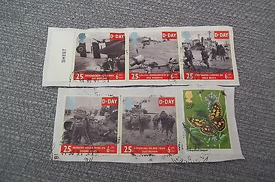"""1994  """" D-Day """" Set Of 5 Fine Used  Cat.£5  Plus One Other"""