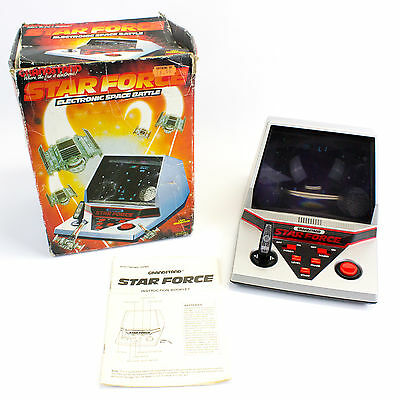 Vintage 1984 Tabletop Star Force VFD Video Game by Grandstand, Boxed