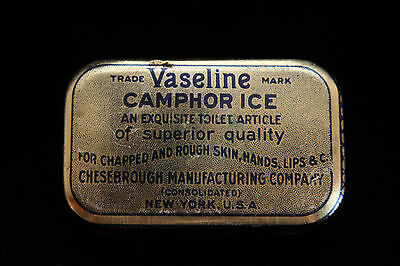 Vintage Tin Vaseline Camphor Ice - Chesbrough Manufactoring Co New York - Empty