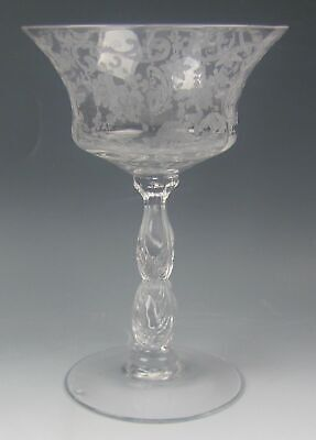 Cambridge Etched Glass CHANTILLY 3625 Champagne/Tall Sherbet Glass(es) EXCELLENT