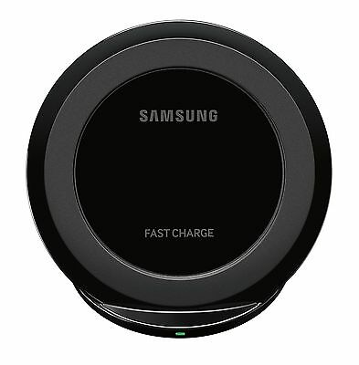 Samsung Fast Charge Qi Wireless Micro USB Desktop Stand Charger w/ 2A Wall Black