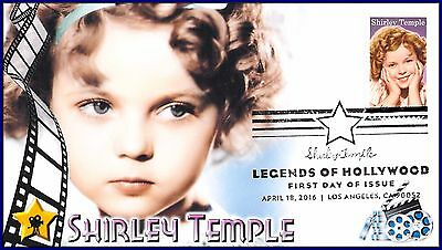 Shirley Temple... 2016 Hollywood Legend... First Day Cover (FDC) Cachet #P004