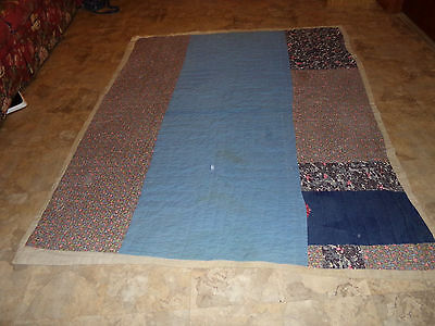 Vintage feedsack Quilt-One on The Inside-Heavy
