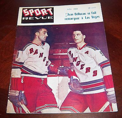 Sport Revue Hockey July 1960 dollard St-Laurent Bob Turner cover