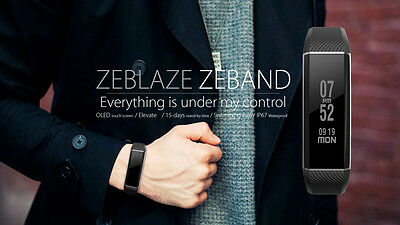 Zeblaze ZeBand Smart Band Oled TouchScreen Heart Rate Monitor Swimming Xiaomi Mi