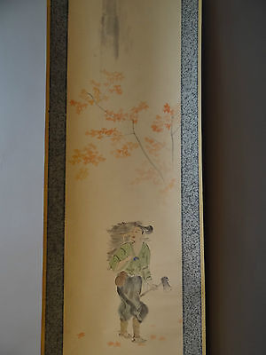 """Japanese hanging scroll Handpainted on Paper  """"Yourou no taki""""  a0108"""