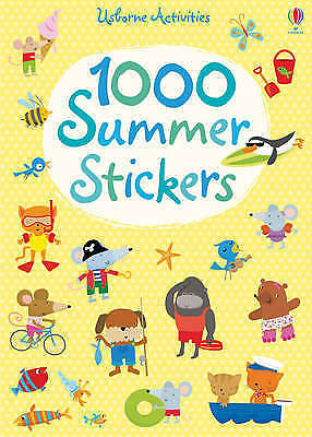 NEW - USBORNE activities 1000 SUMMER STICKERS  rrp 9.99 fill scene or make card