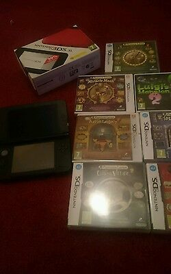 Nintendo 3ds xl console red professor Layton Luigis Mansion 2 games package