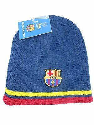 31b1b526f39 FC Barcelona Fitted Beanie Winter Hat Cap NWT FCB K1E35 Official Product