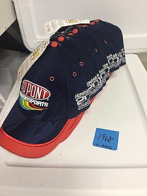 Lot of 11:  Jeff Gordon #24 Dupont Chase Authentics hats Nu-Fit (one size)