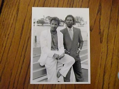 Don Johnson Miami Vice Philip Michael Thomas Original NBC Press Photo 1986