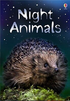 NEW USBORNE BEGINNERS  -  NIGHT ANIMALS  (age 4+ ANIMAL LIBRARY) KS1