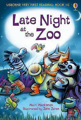 NEW USBORNE Very First Reading (10) LATE NIGHT at the ZOO paperback