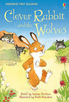 NEW USBORNE First Reading ( LEVEL TWO ) CLEVER RABBIT and the WOLVES paperback 2