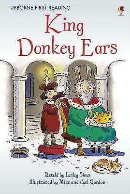 NEW USBORNE First Reading ( LEVEL TWO ) KING DONKEY EARS paperback LEVEL1