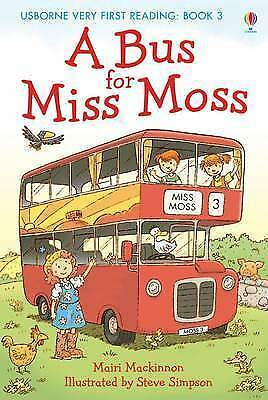 NEW USBORNE Very First Reading (3)  A BUS FOR MISS MOSS paperback