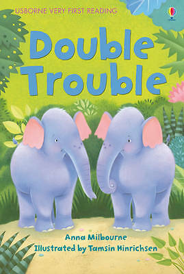 NEW USBORNE Very First Reading (1) DOUBLE TROUBLE  paperback