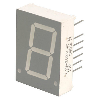 Lite-On Electronics LTS-3403AP Displays Segmented Module 1DIGIT 8LED Red  10 pcs