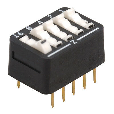 Arndt 206-517 DIP Switch 5-Position Standard Rocker Raised 50 pcs