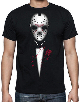 Friday The 13th Jason Voorhees The Godfather Black Mens Horror Movie T Shirt