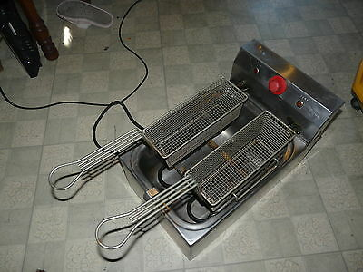 Grindmaster 15 lb Electric Deep Fryer Tested Cecilware EL120 Stainless Steel Cou