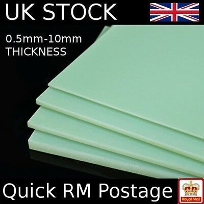 Epoxy Glass Fibre Sheet GRP G10 FR4 Glassfibre A4 Plate 0.5mm 1mm 1.5mm 5mm 10mm
