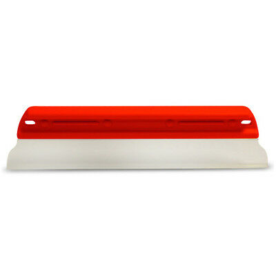 "11"" Soft N Dry Neon Red Hard Handle Silicone T Bar Edge Water Blade Squeegee"