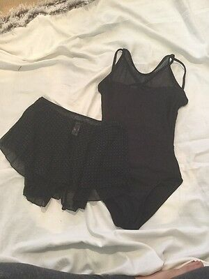 Women's Black Leotard And Skirt Size Small