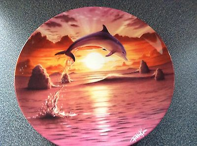 Franklin Mint Dolphin Plate