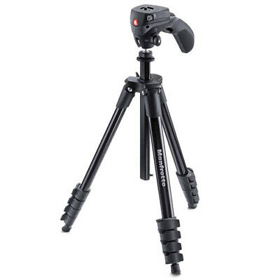 Manfrotto Compact Action Tripod (MKCOMPACTACN-BK) [MANFROTTO WARR]