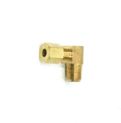 """3/16"""" Tube OD Compression Elbow x 1/8"""" Male NPT Fitting Adapter Connector"""