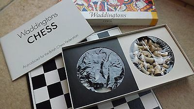 Vintage Waddingtons Boxed Chess Set And Board 1973