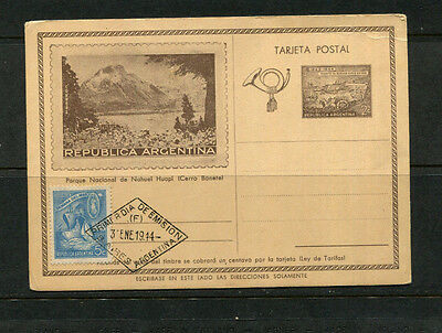 Argentina 1944 Postal Card Cover National Park Illustrated Cds Special Cache