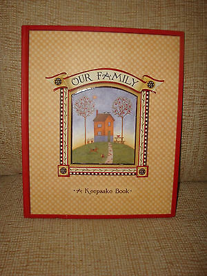 """""""Our Family"""" keepsake book of memories and family history"""