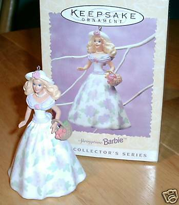 1995 Springtime Barbie Doll Hallmark Ornament First in Series NRFB