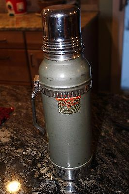 Vintage Stanley Super VAC Thermos with Large Cork Stopper and handle N944