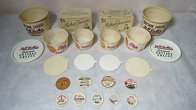 Vintage Borden's, Mother's Favorite, Hall Brothers Dairy, and Dairy Bottle Caps