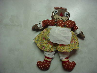 "Cute Cloth 7"" Raggedy Ann/andy Beloved Belindy Doll"