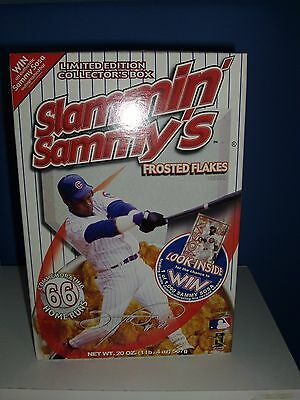 Slammin' Sammy's Cereal Box Sammy Sosa Frosted Flakes - Chicago Cubs