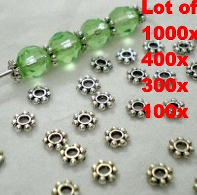 Wholesale 1000pcs Tibetan Daisy Spacer Metal Beads 4mm Jewelry Making Wholesale