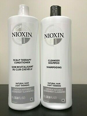 Nioxin System 1 Cleanser & Scalp Therapy Duo Set, 1 Liter, NEW!!!