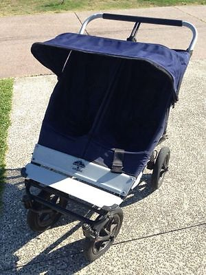 Mountain Buggy Urban Double Twin Stroller Pram Pushchair Blue