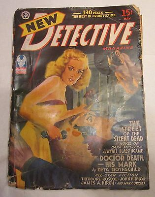 New Detective Pulp Magazine May 1943 See-Through Nude Cover