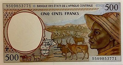 Central African States, Chad, 500 francs, 1995  P-601Pg, UNC