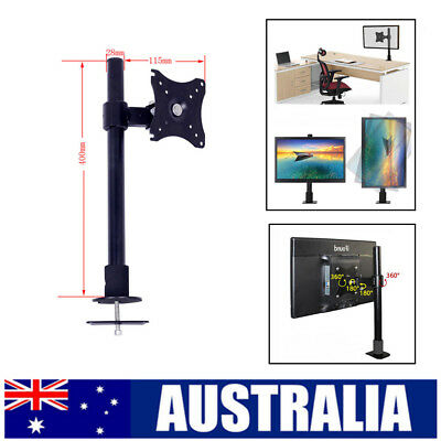 "10""-27"" LED LCD Screen VESA Display Bracket Single Arm Monitor Stand Desk Mount"